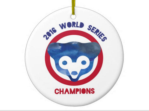 Chicago Cubs World Series Ornament - One Strange Bird