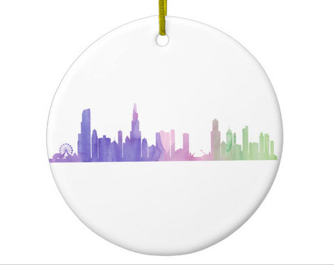 Chicago Skyline Ornament - One Strange Bird