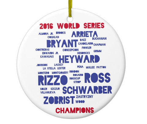 Chicago Cubs Players World Series Ornament - One Strange Bird