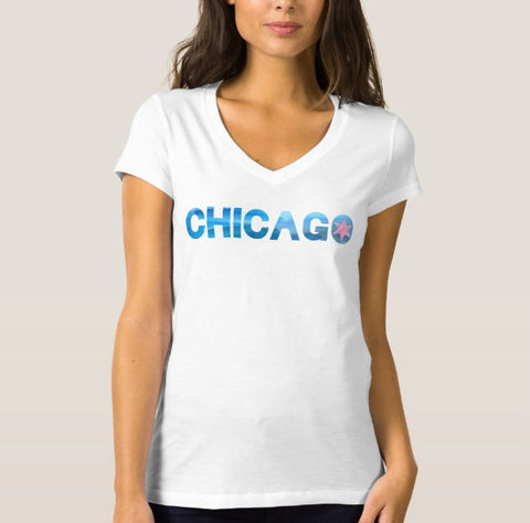 Chicago V Neck Shirt - One Strange Bird