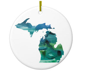 Michigan Mitten Art  Ornament - One Strange Bird