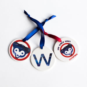 Chicago Cubs World Series Ornament Set - One Strange Bird
