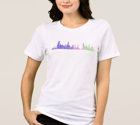 Chicago Skyline Shirt Unisex - One Strange Bird