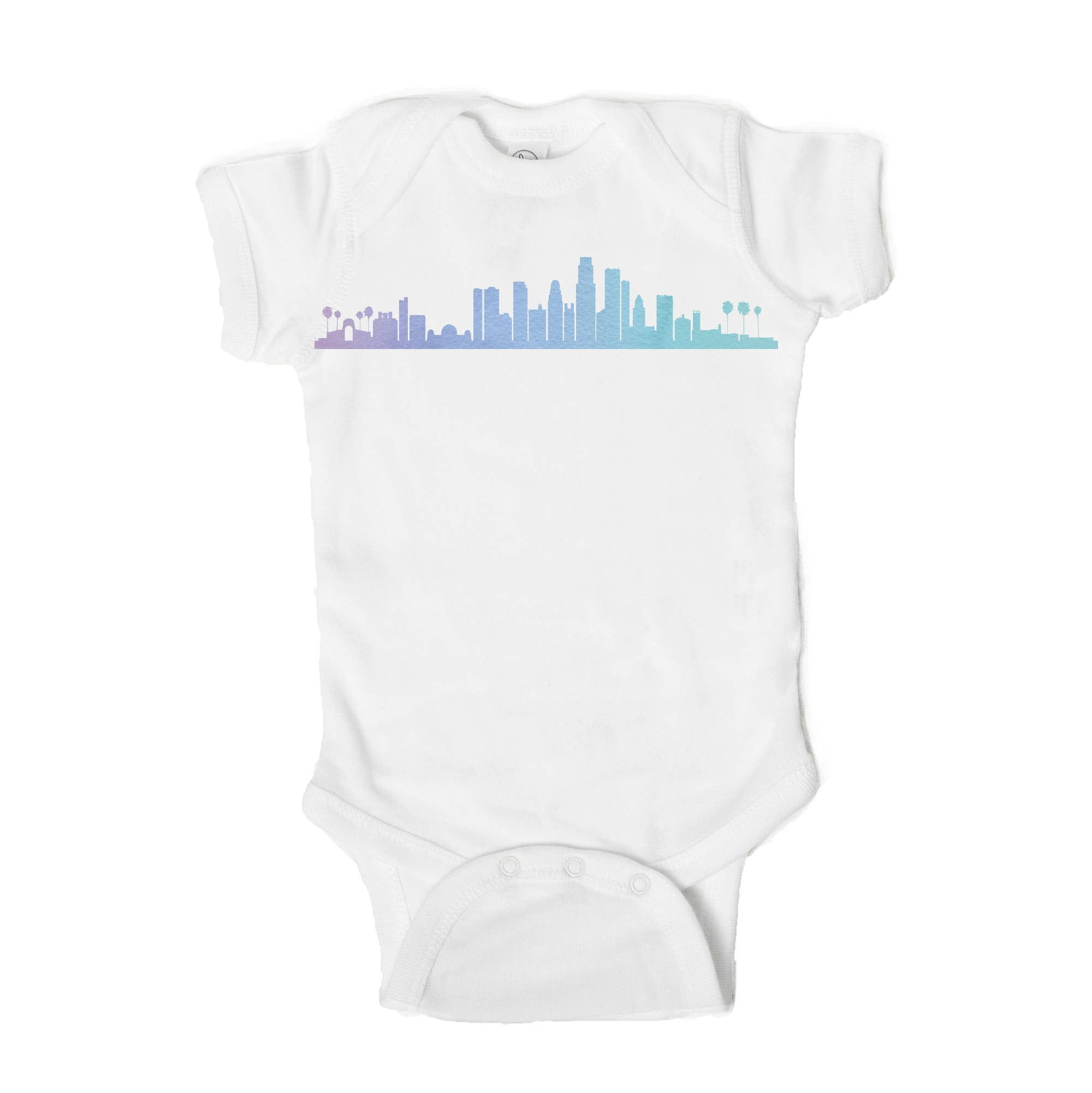 Los Angeles Skyline Baby Onesie - One Strange Bird