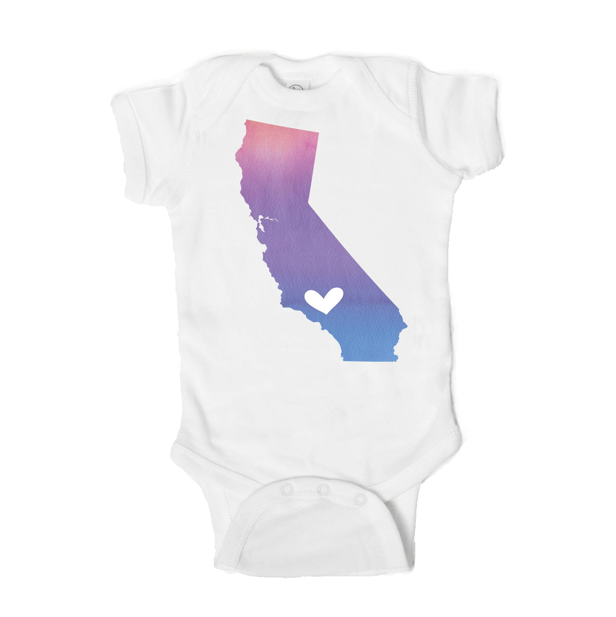Los Angeles Heart Baby Onesie - One Strange Bird