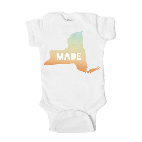 Made in New York  Baby Onesie - One Strange Bird