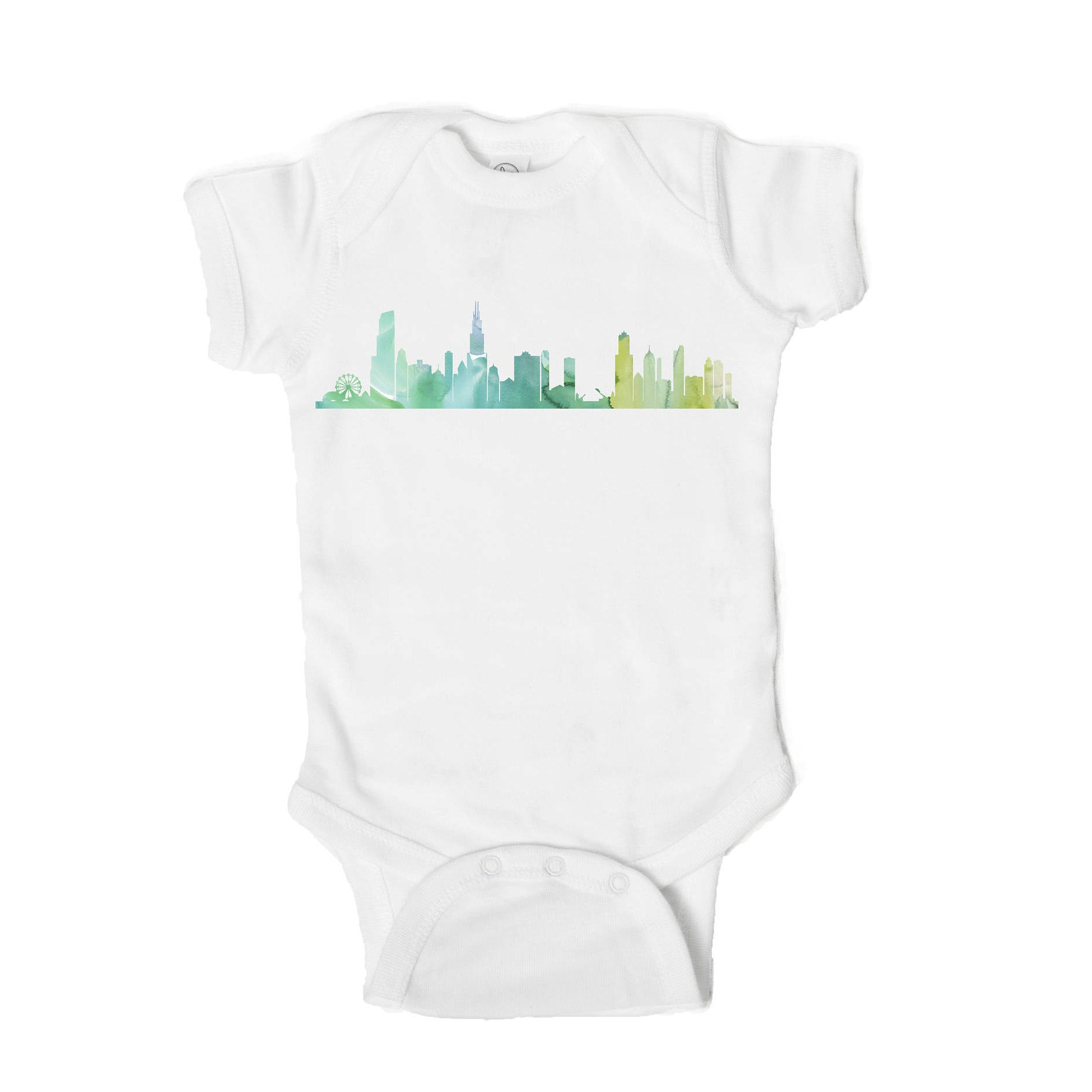 Chicago Skyline Baby Onesie - One Strange Bird