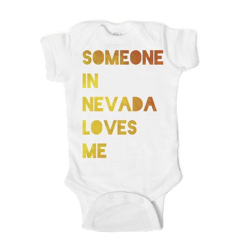 Someone in Nevada Loves Me Baby Onesie