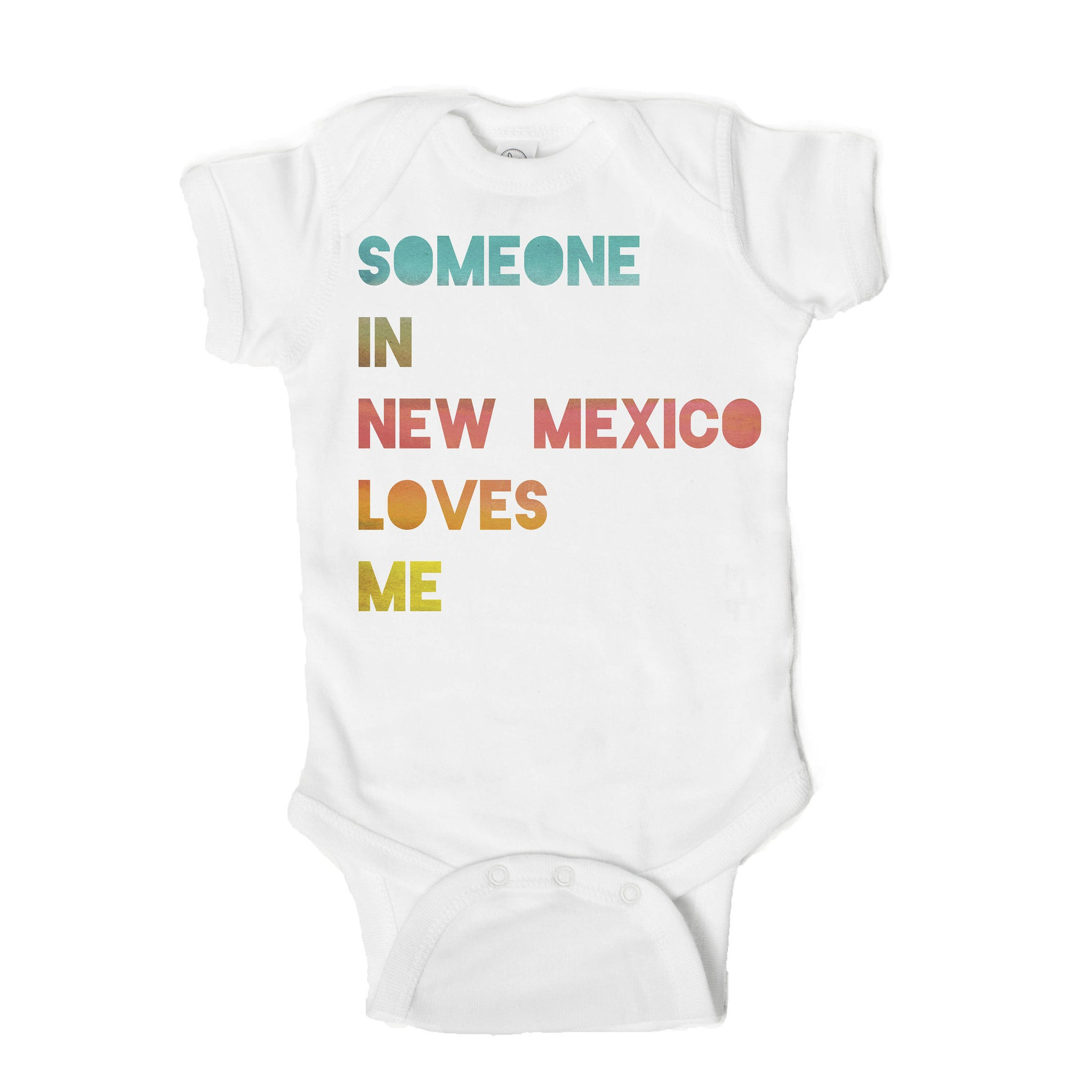 Someone in New Mexico Loves Me Baby Onesie