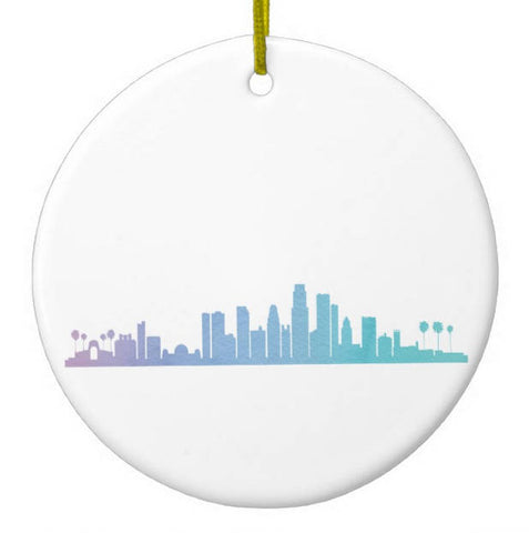 Los Angeles Skyline Christmas Ornament