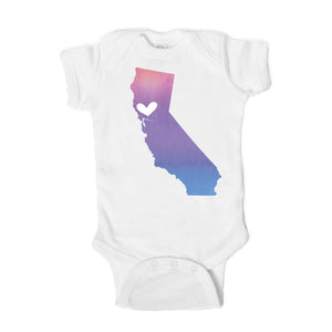 San Francisco Heart Baby Onesie - One Strange Bird