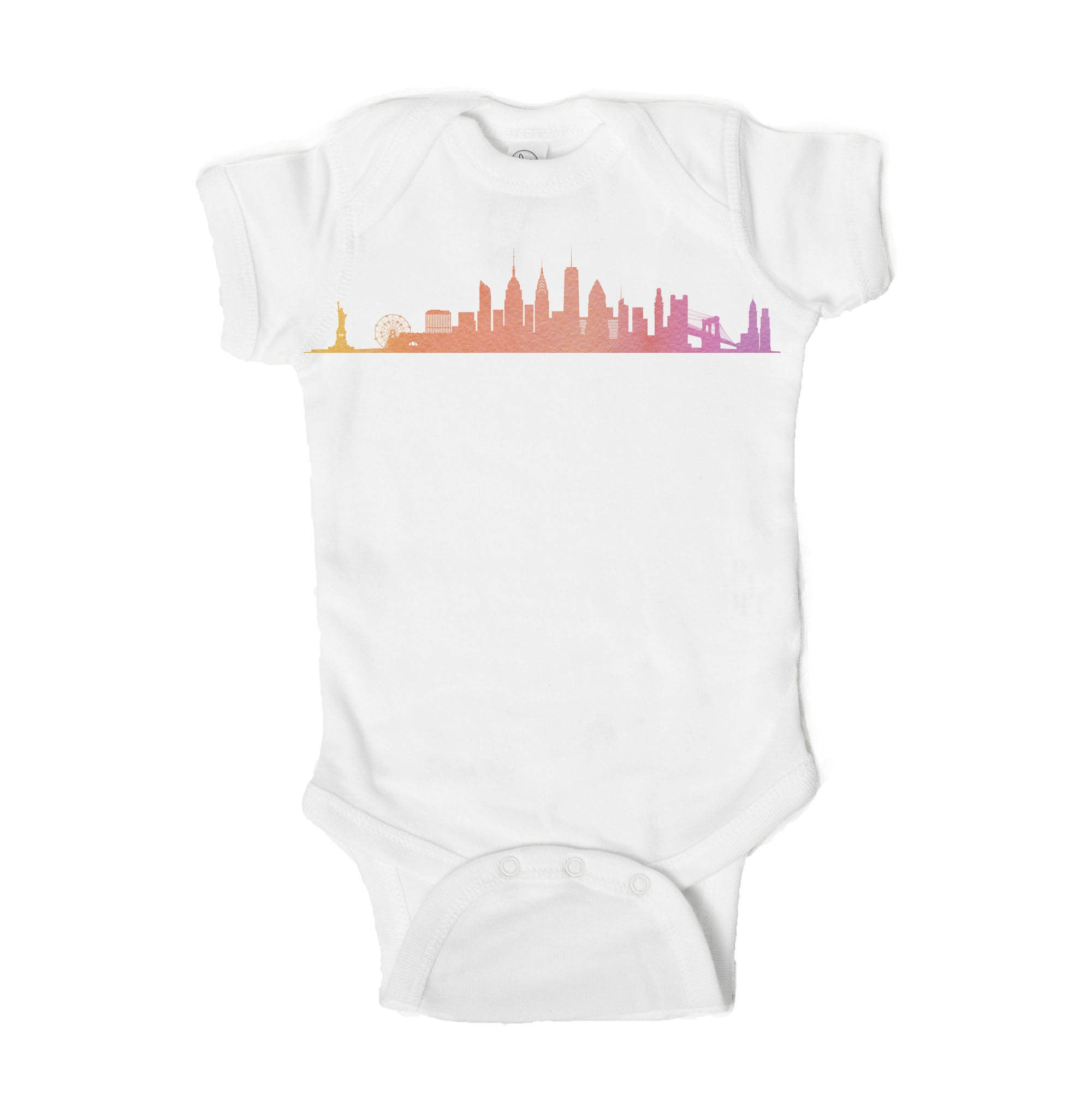 New York Skyline Baby Onesie - One Strange Bird