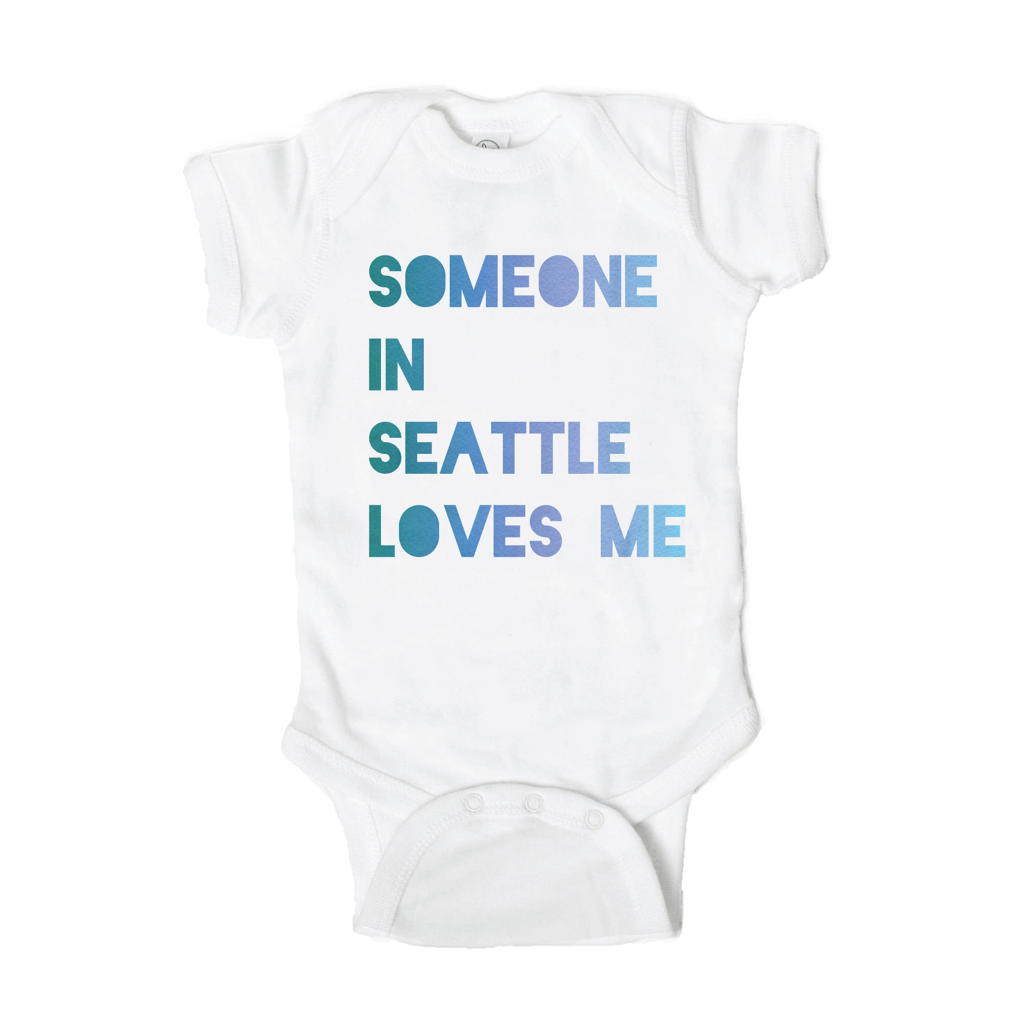 Someone Loves Me in Seattle Baby Onesie