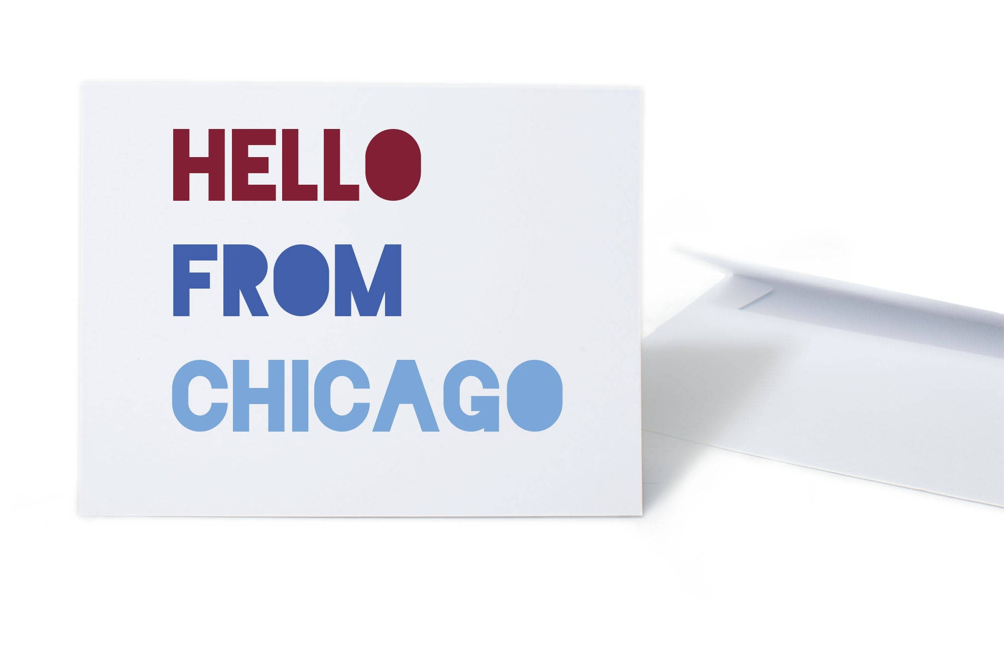 Hello From Chicago Card
