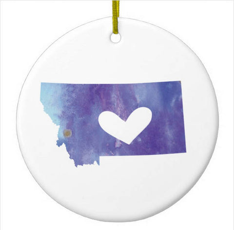 Montana Christmas Ornament