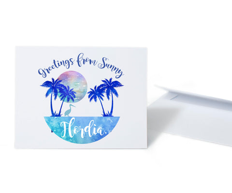 Greetings from Sunny Florida Card