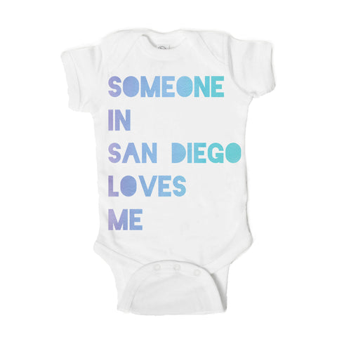 Someone in San Diego Loves Me Baby Onesie