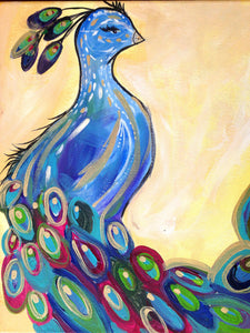 BYOB painting peacock- Friday 6:30-8:30