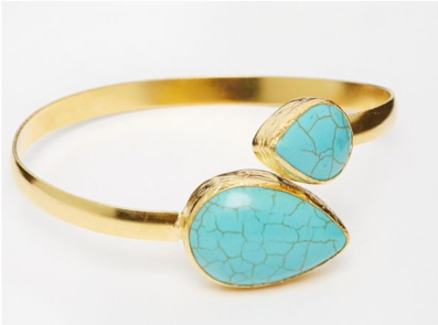 Large Arm Cuff Teardrop Bracelet
