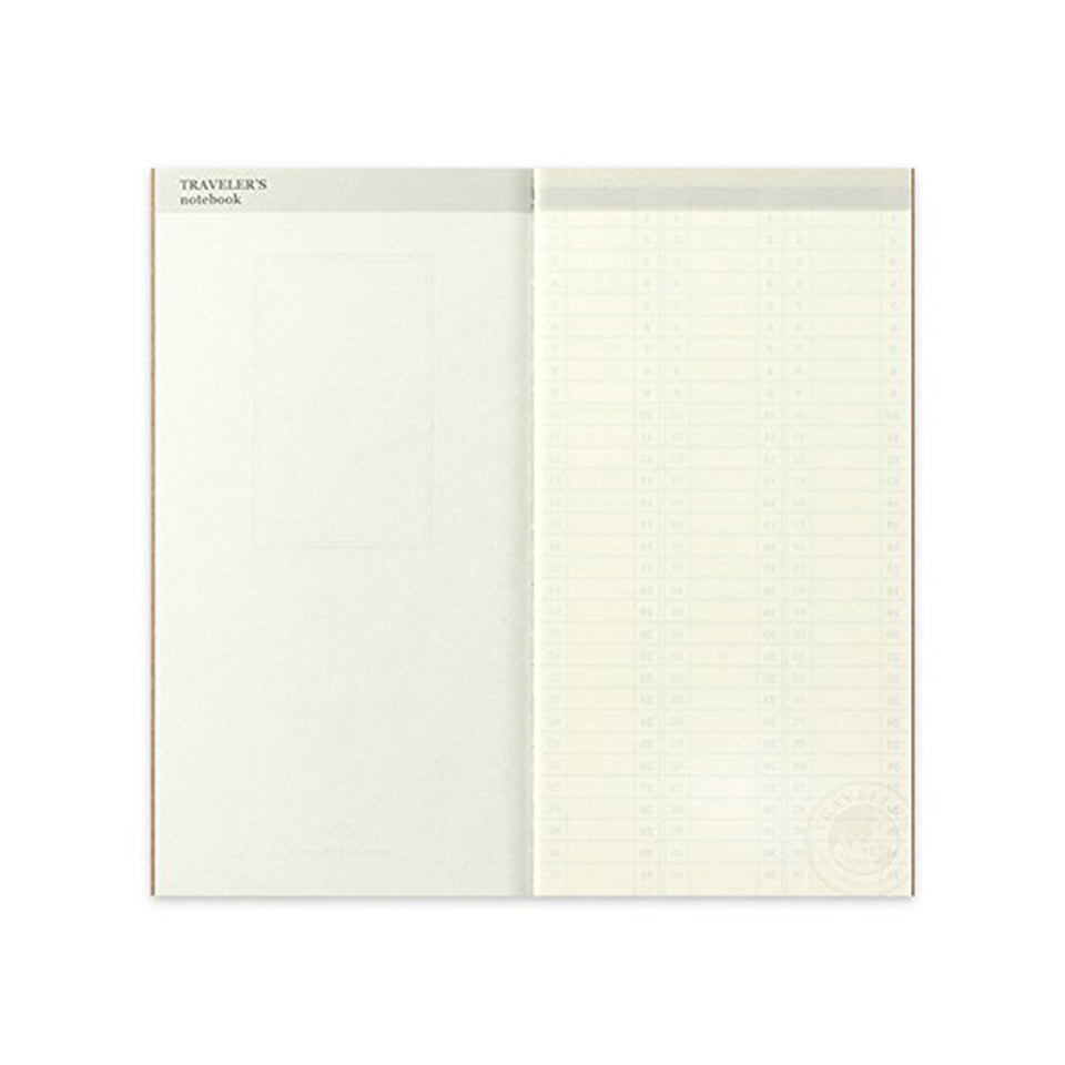 TRAVELER'S NOTEBOOK REFILL 018 FREE DIARY (WEEKLY VERTICAL)