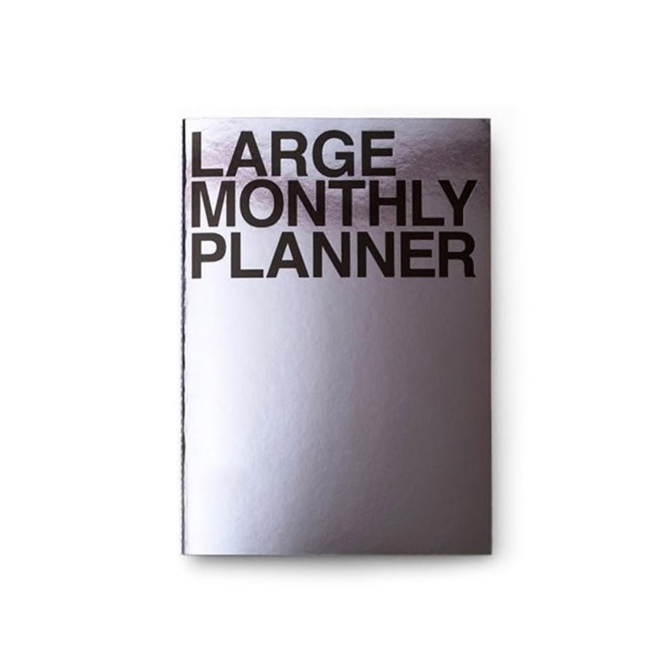 LARGE MONTHLY PLANNER - METAL BLACK