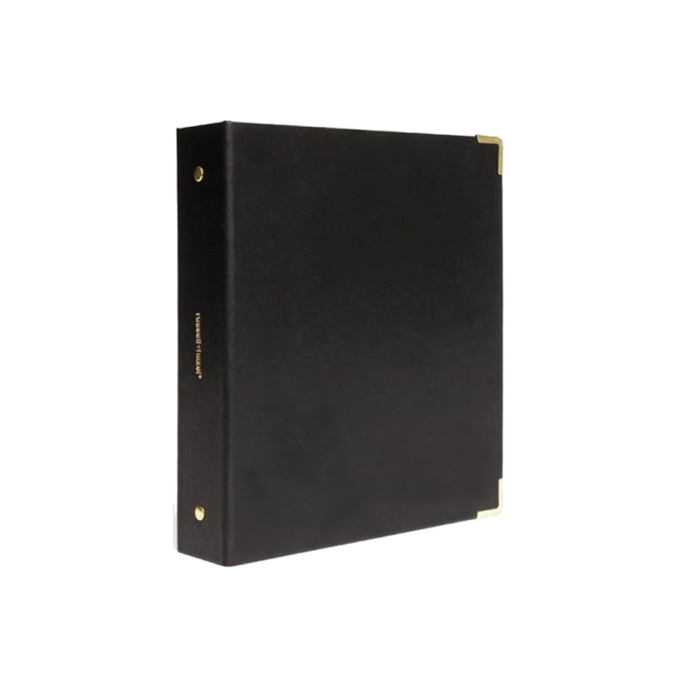 BLACK VEGAN LEATHER MINI BINDER