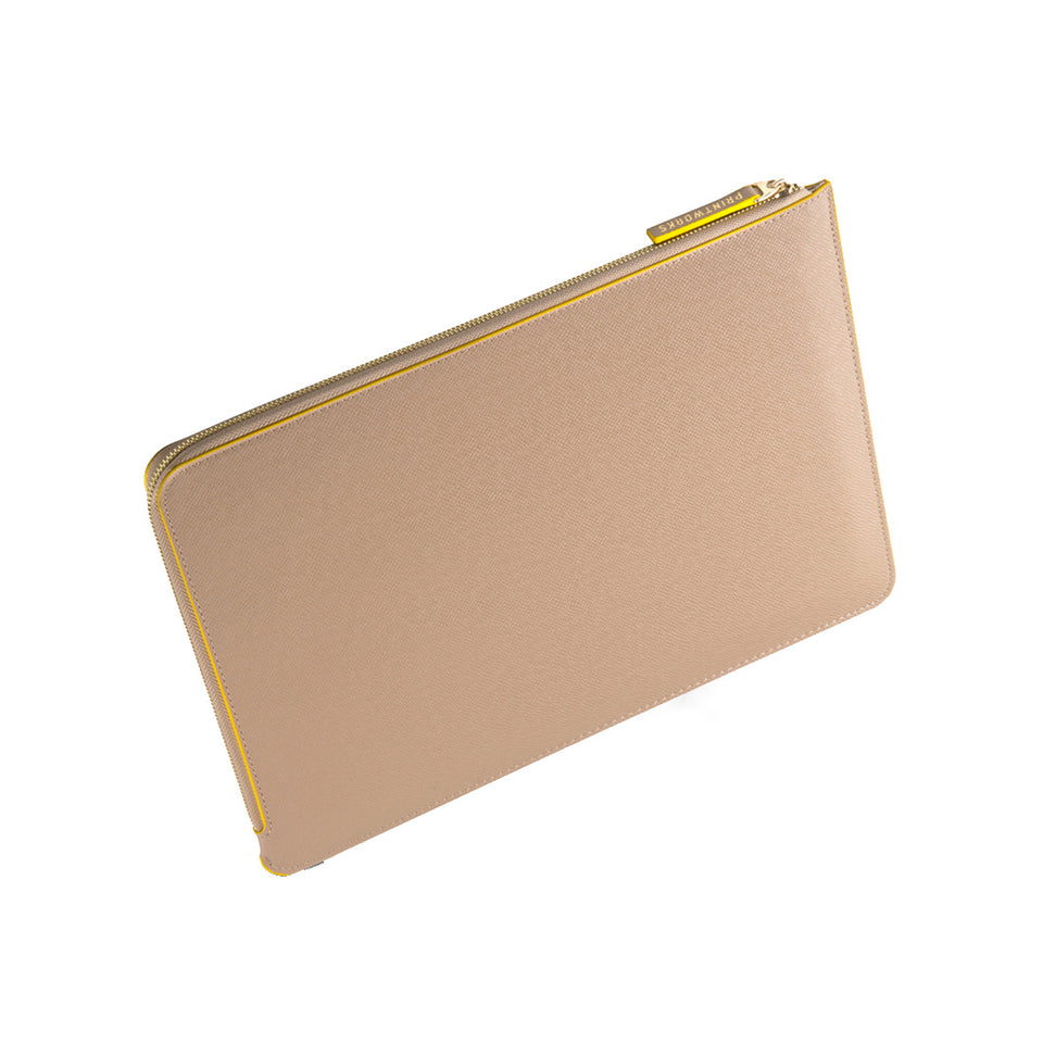 BEIGE/YELLOW LAPTOP CASE 13-15 INCH