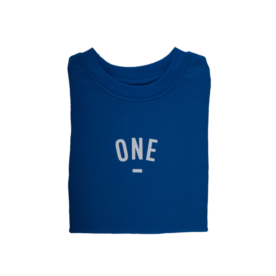 FRENCH BLUE NUMBERED T-SHIRT