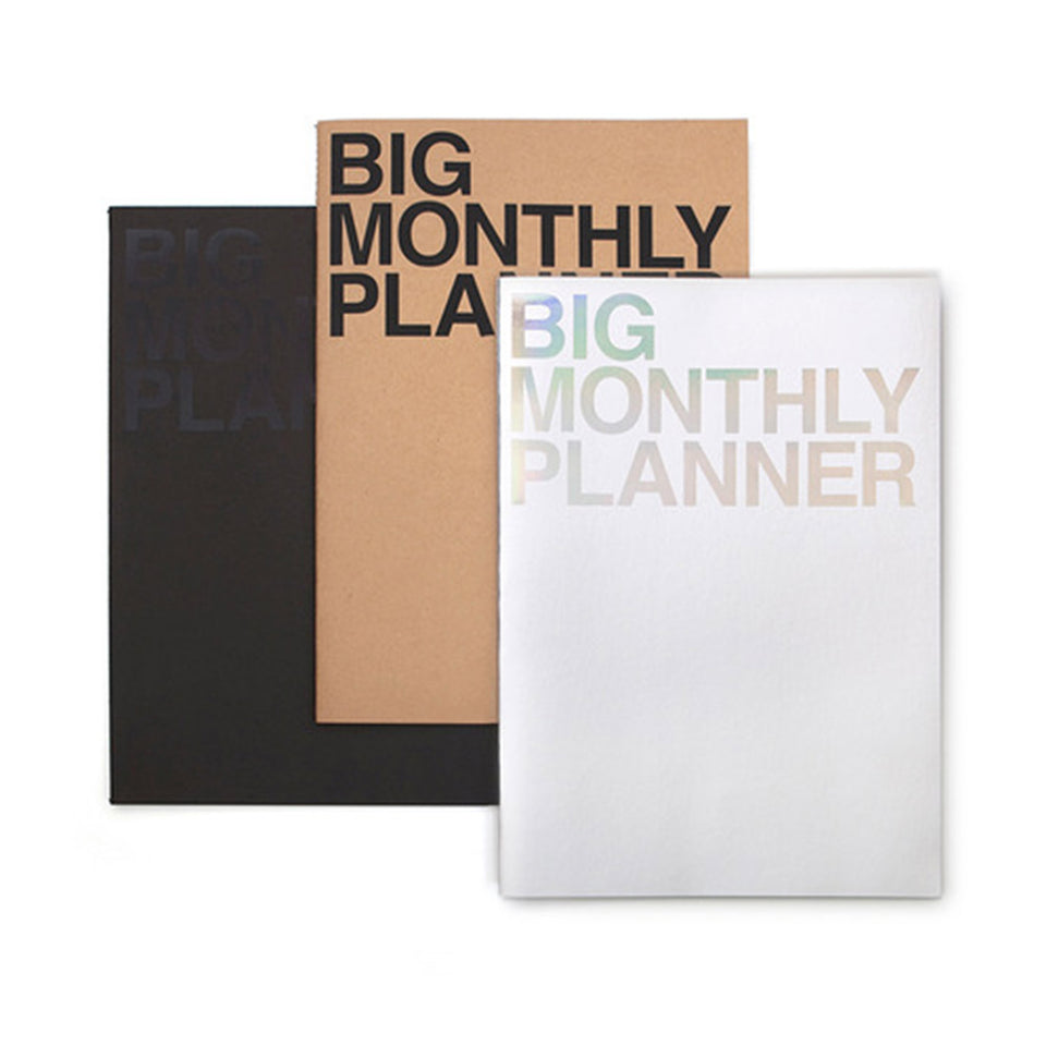BIG MONTHLY PLANNER - SILVER