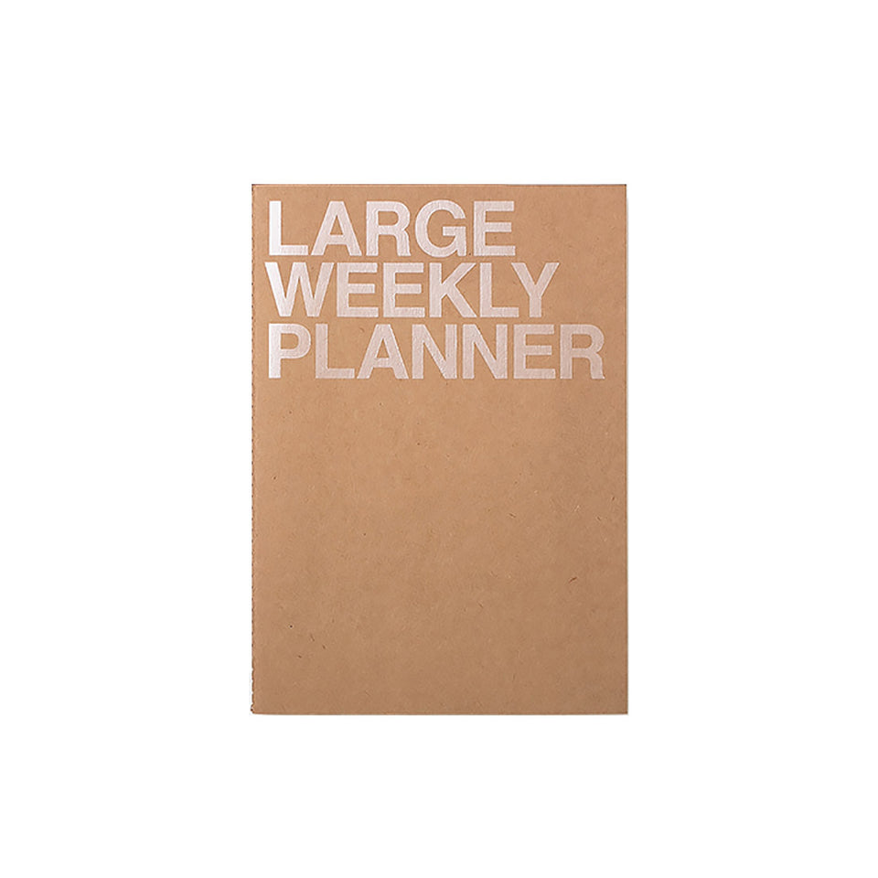 LARGE WEEKLY PLANNER - KRAFT