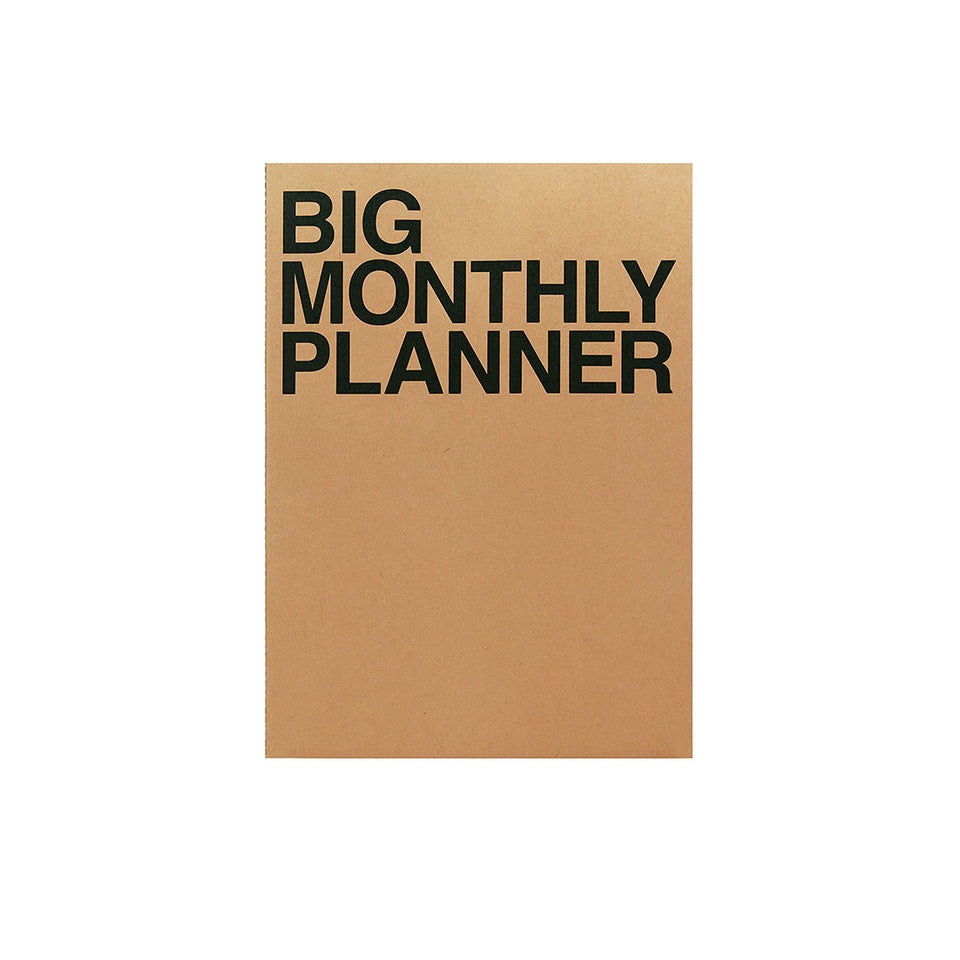 BIG MONTHLY PLANNER - KRAFT