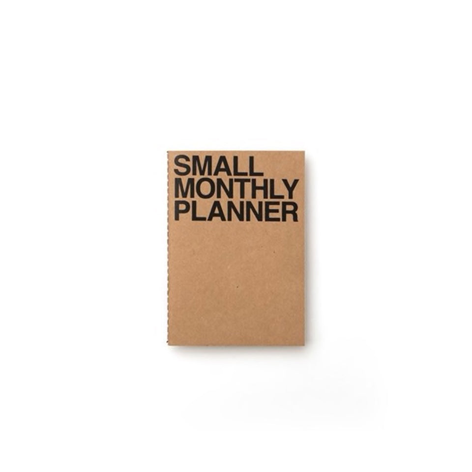 SMALL MONTHLY PLANNER - KRAFT