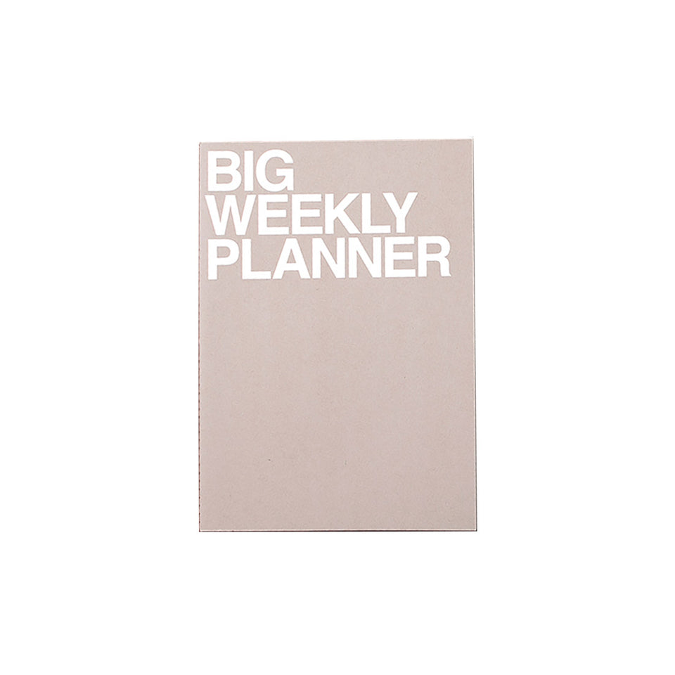 BIG WEEKLY PLANNER - GREY