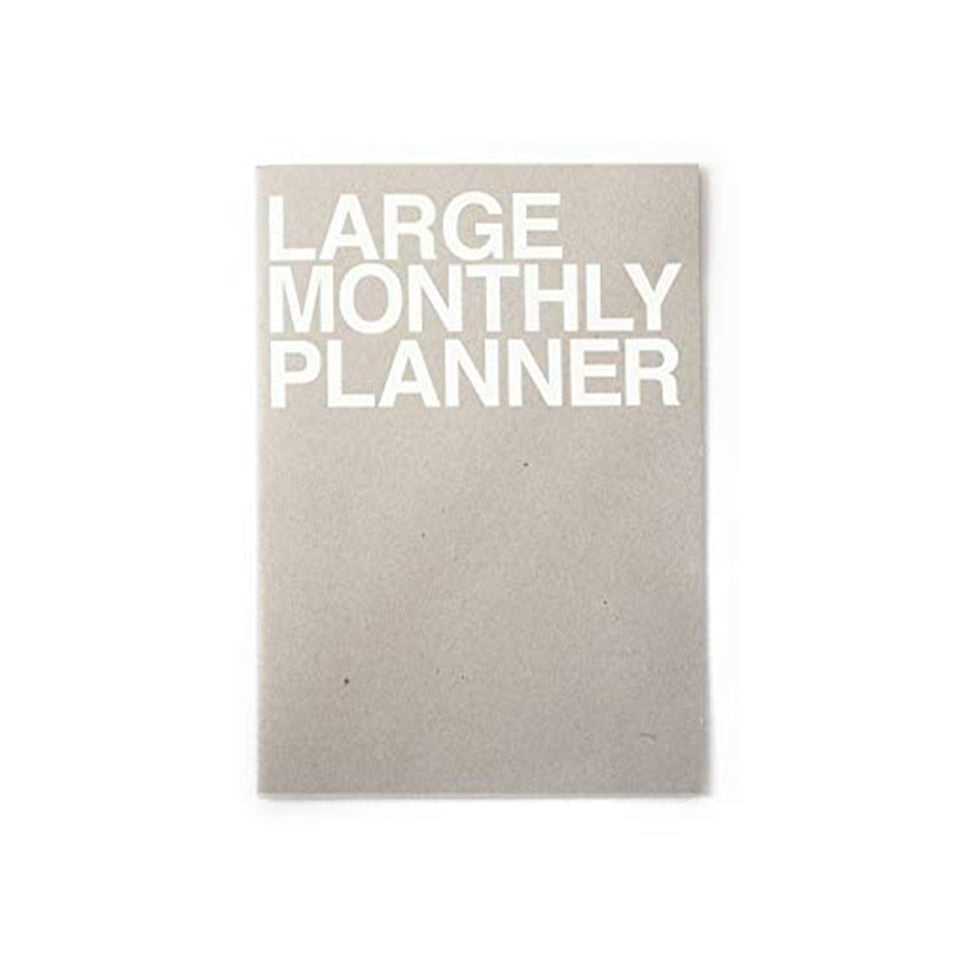 LARGE MONTHLY PLANNER - GREY