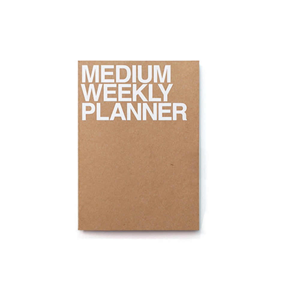 MEDIUM WEEKLY PLANNER - KRAFT