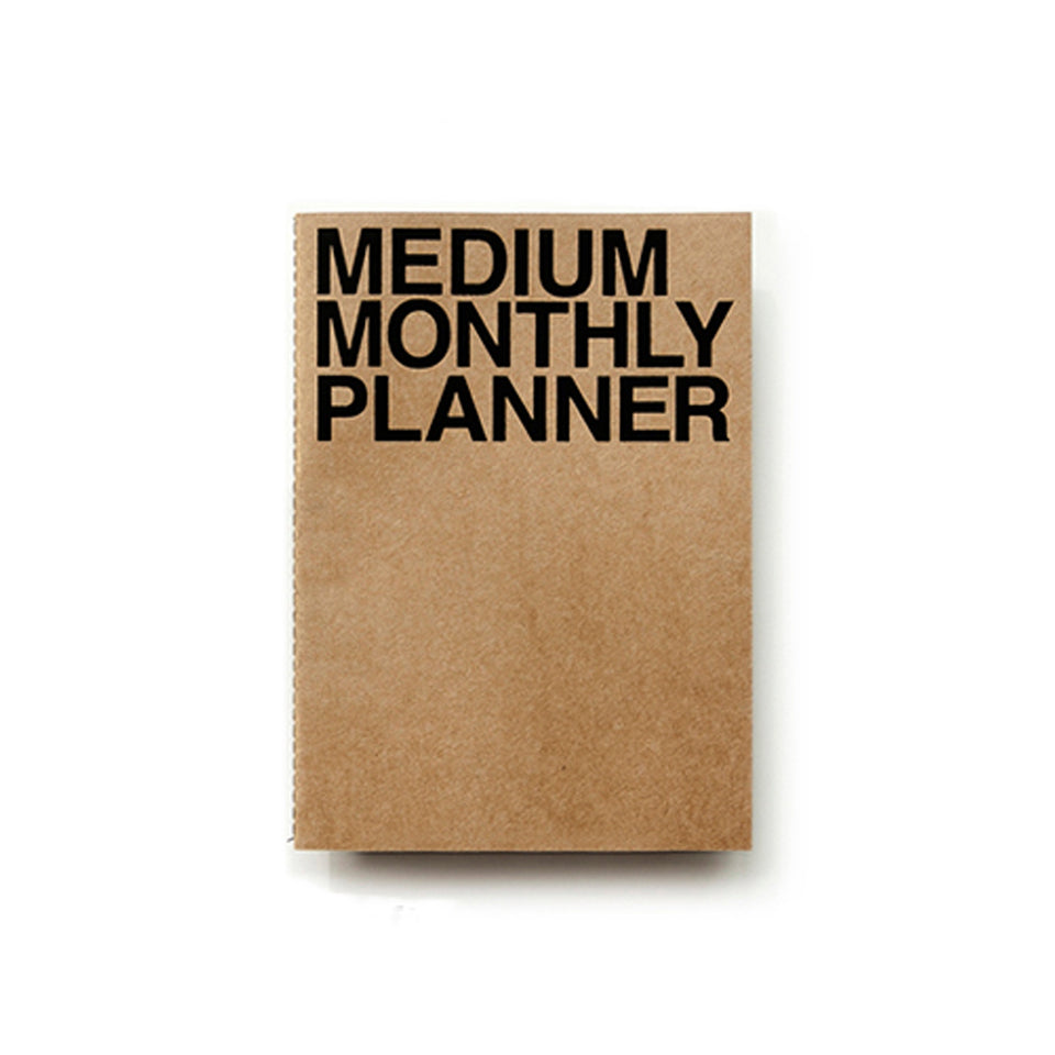 MEDIUM MONTHLY PLANNER - KRAFT
