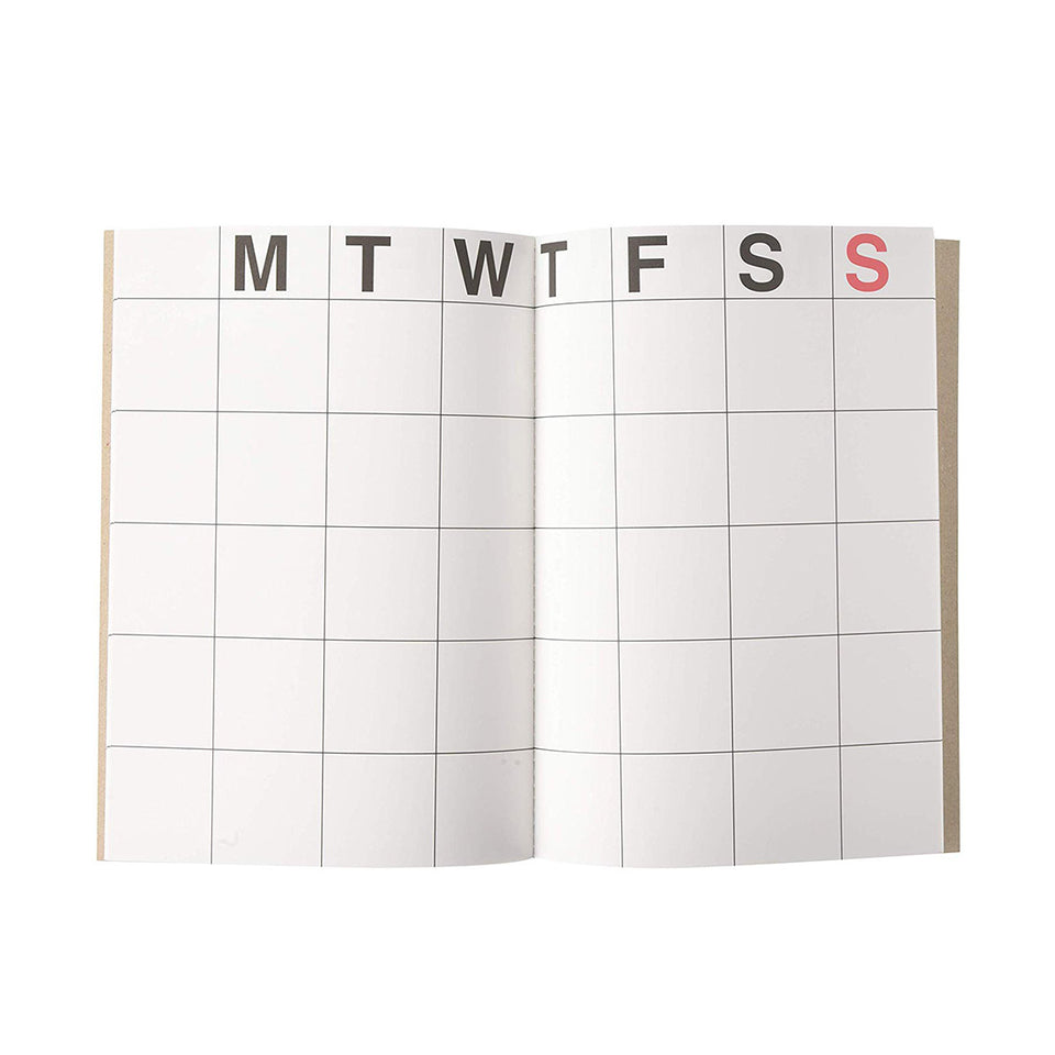 LARGE MONTHLY PLANNER - KRAFT