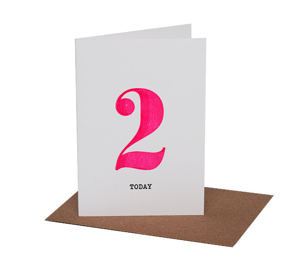 NEON BIRTHDAY CARD IN AGES 1-4