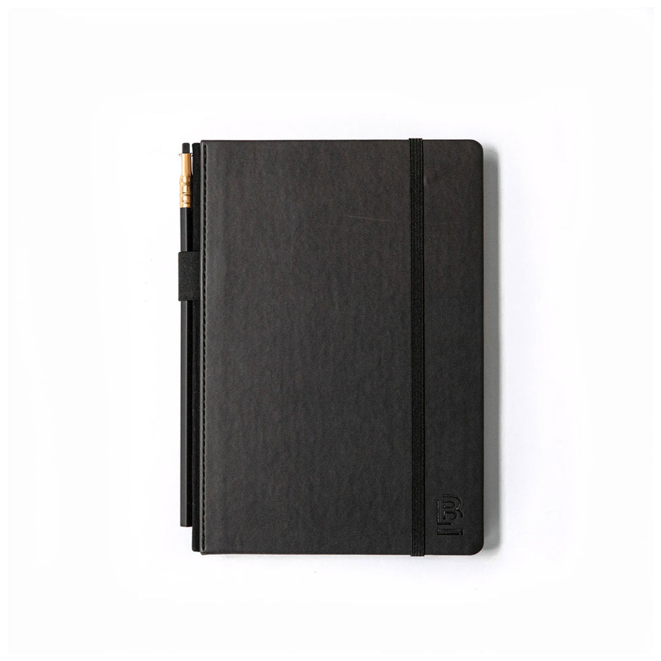 BLACK MEDIUM SLATE NOTEBOOK - RULED