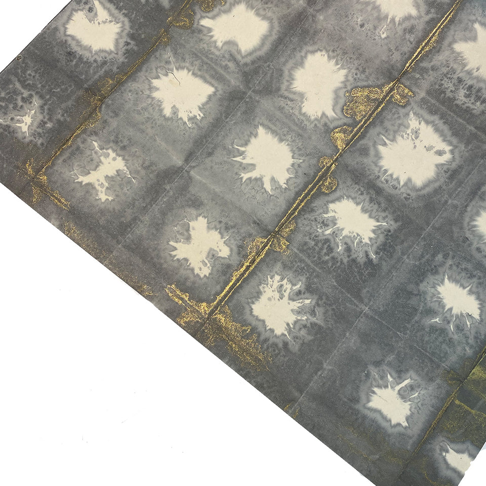 GREY HAND TIED WRAPPING PAPER