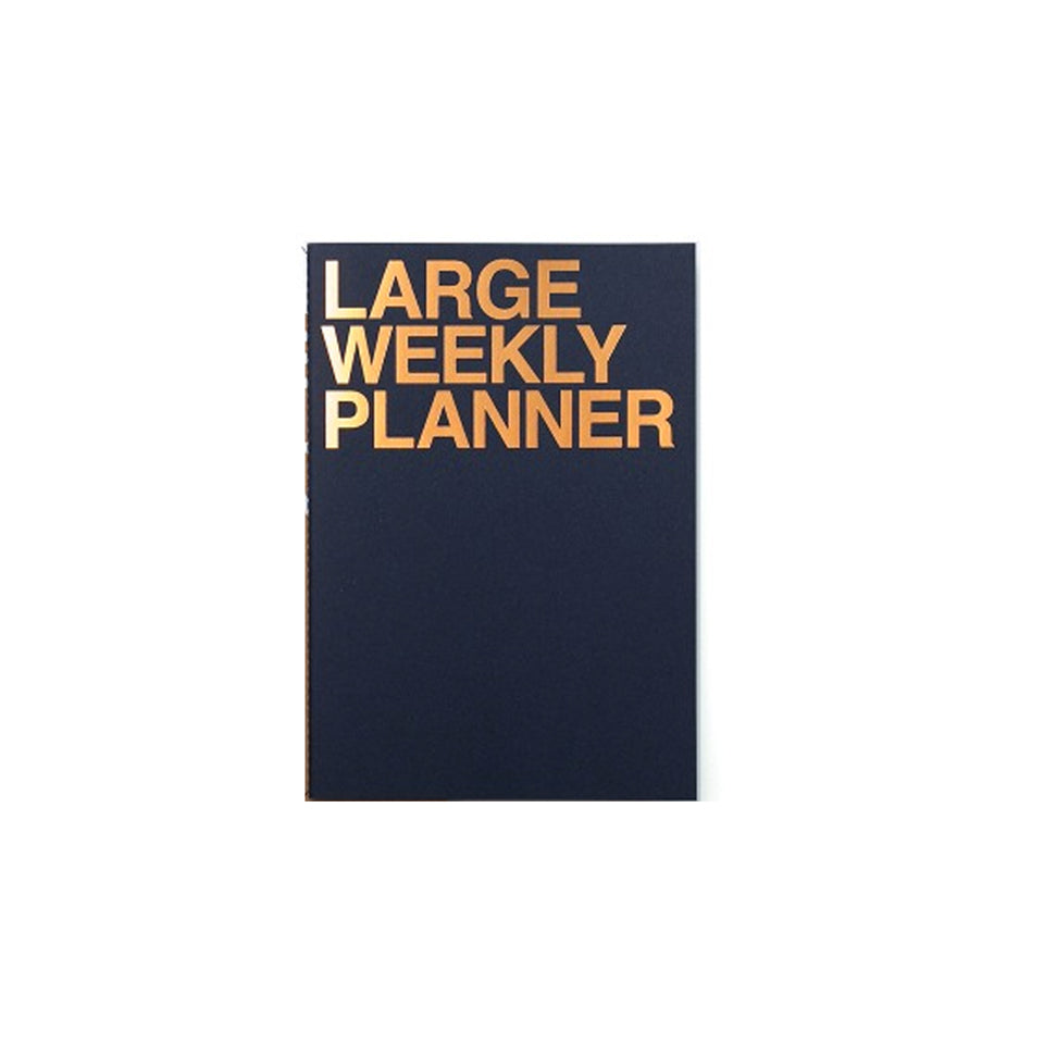 LARGE WEEKLY PLANNER - INDIGO