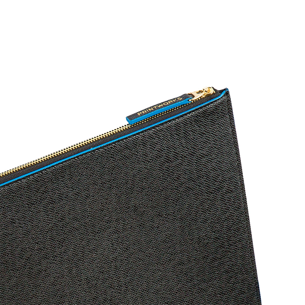 BLACK/BLUE LAPTOP CASE 10-12 INCH