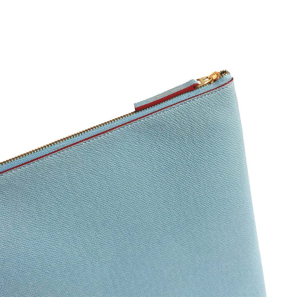 PALE BLUE/BURGUNDY LAPTOP CASE 10-12 INCH