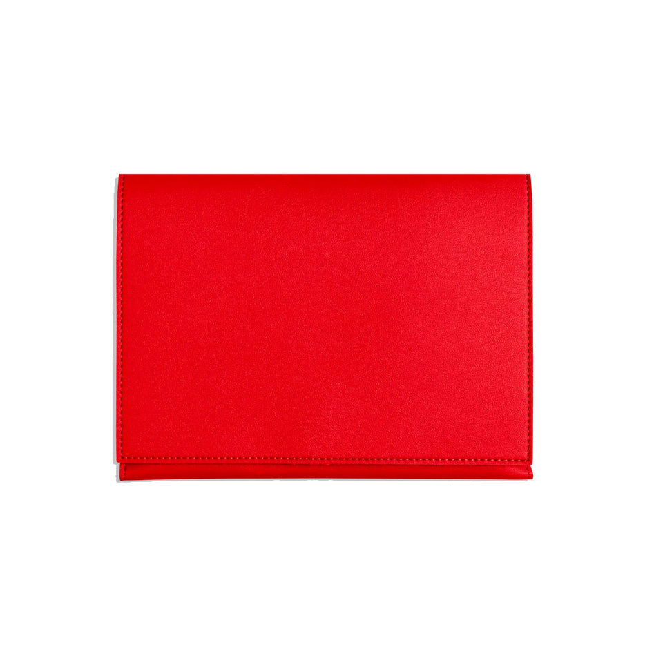 RED MEDIUM MINIMALIST FOLIO