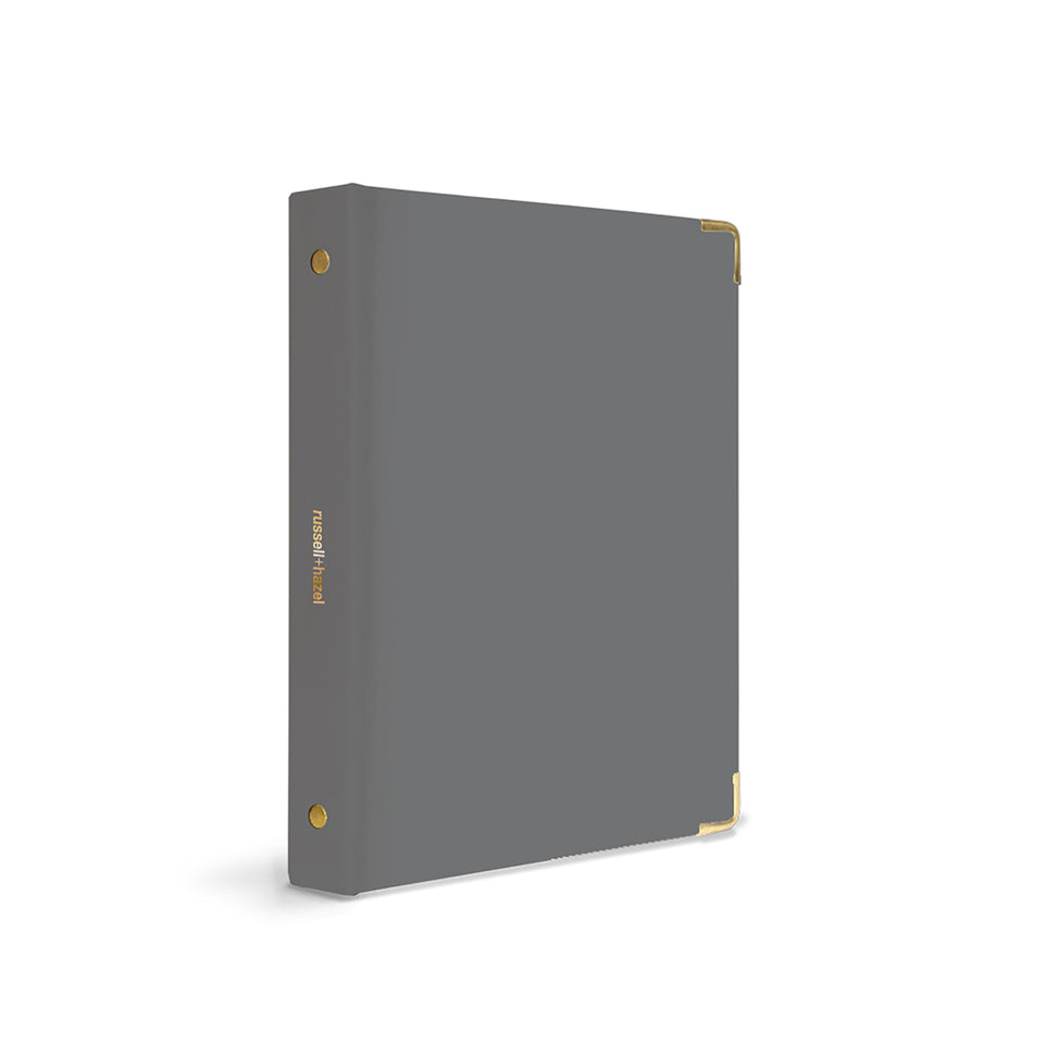CHARCOAL PATENT MINI BINDER