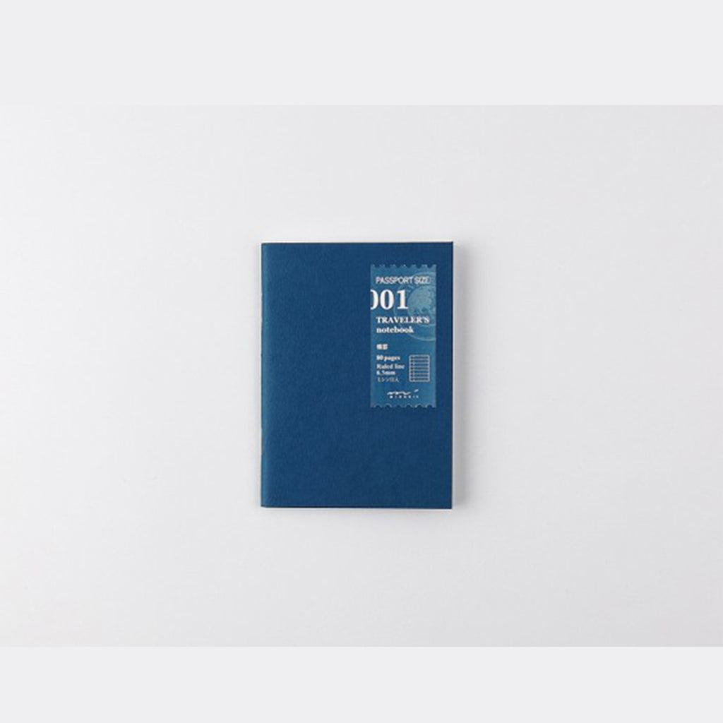 TRAVELER'S PASSPORT NOTEBOOK // REFILL 001 LINED MD PAPER