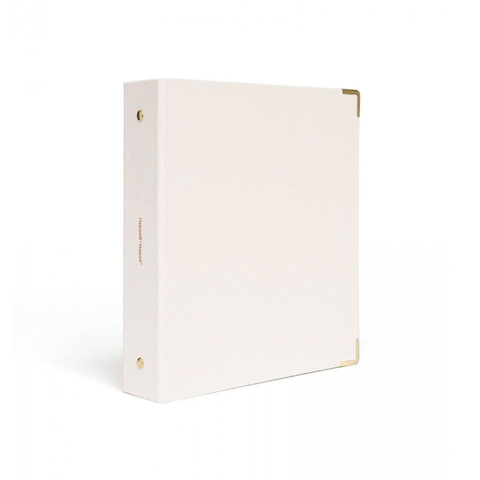 PEARL BOOKCLOTH MINI BINDER