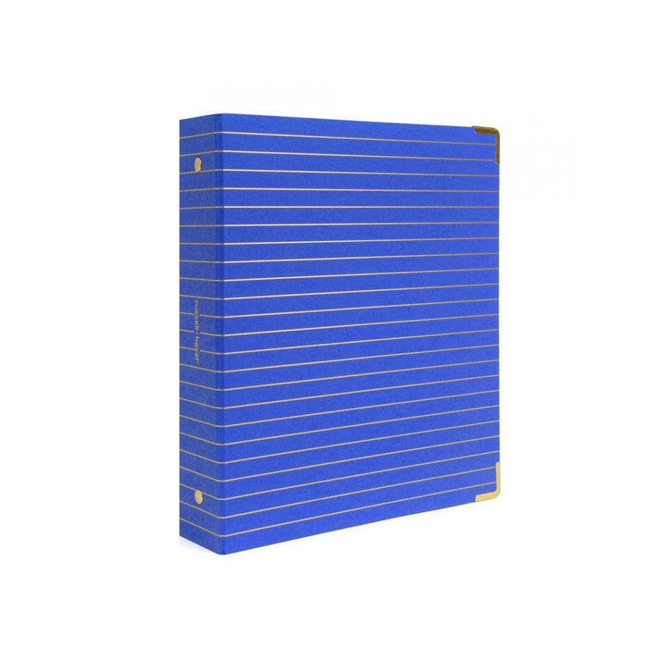 COBALT AND GOLD FOIL STRIPED MINI BINDER