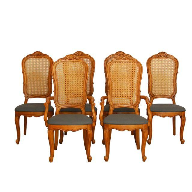 French Cane Dining Chairs_Erin Lane Estate