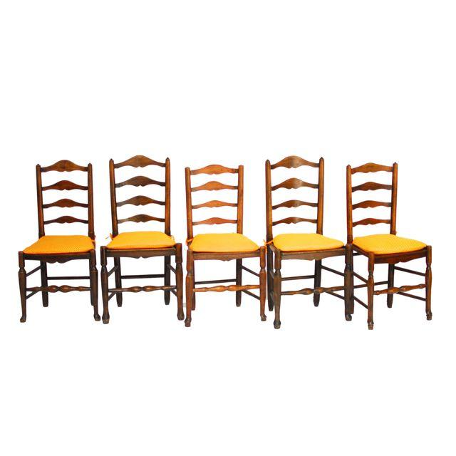 Set of 5 Ladderback Dining Chairs